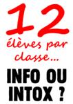 12 élèves par classe ?