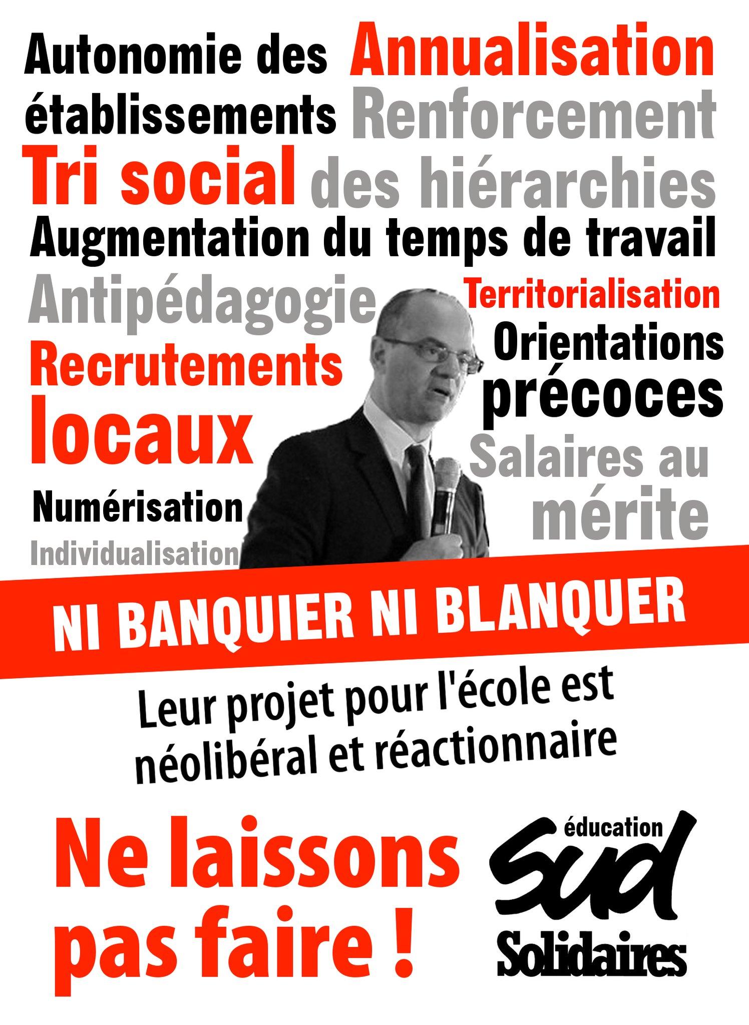 Jean-Michel Blanquer, un Ministre en marche pour la destruction de l'École publique