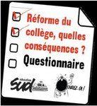 Bilans de l'enquête SUD éducation – Réforme du collège
