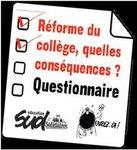 Bilans de l'enquête SUD éducation - Réforme du collège
