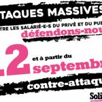 Public/Privé : Journée nationale de grève et de manifestation le 12 septembre