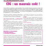 CSG : un mauvais coût !