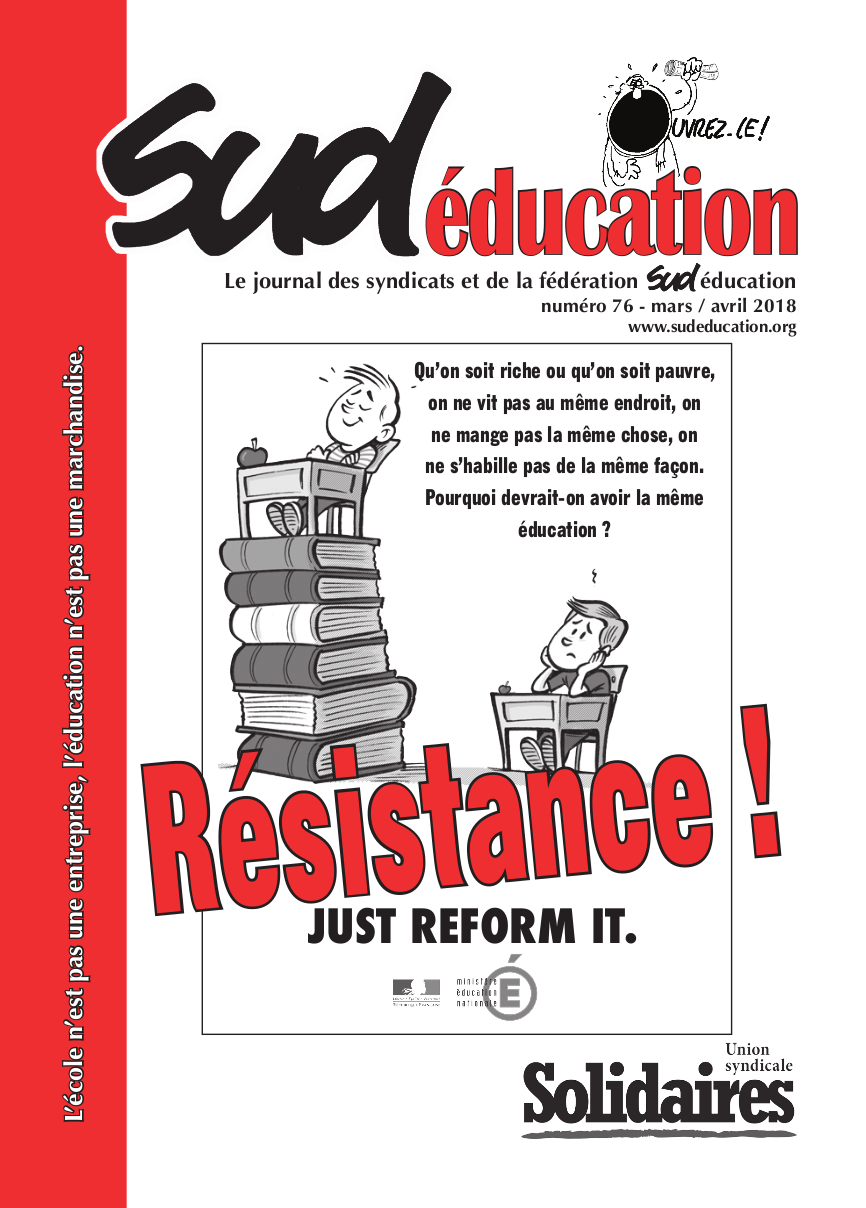 Sud éducation – le journal n°76 – mars / avril 2018