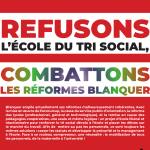 Rentrée 2018 : refusons l'école du tri social, combattons les réformes Blanquer