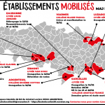 Carte des mobilisations dans le Val d'Oise (MAJ 25/02)