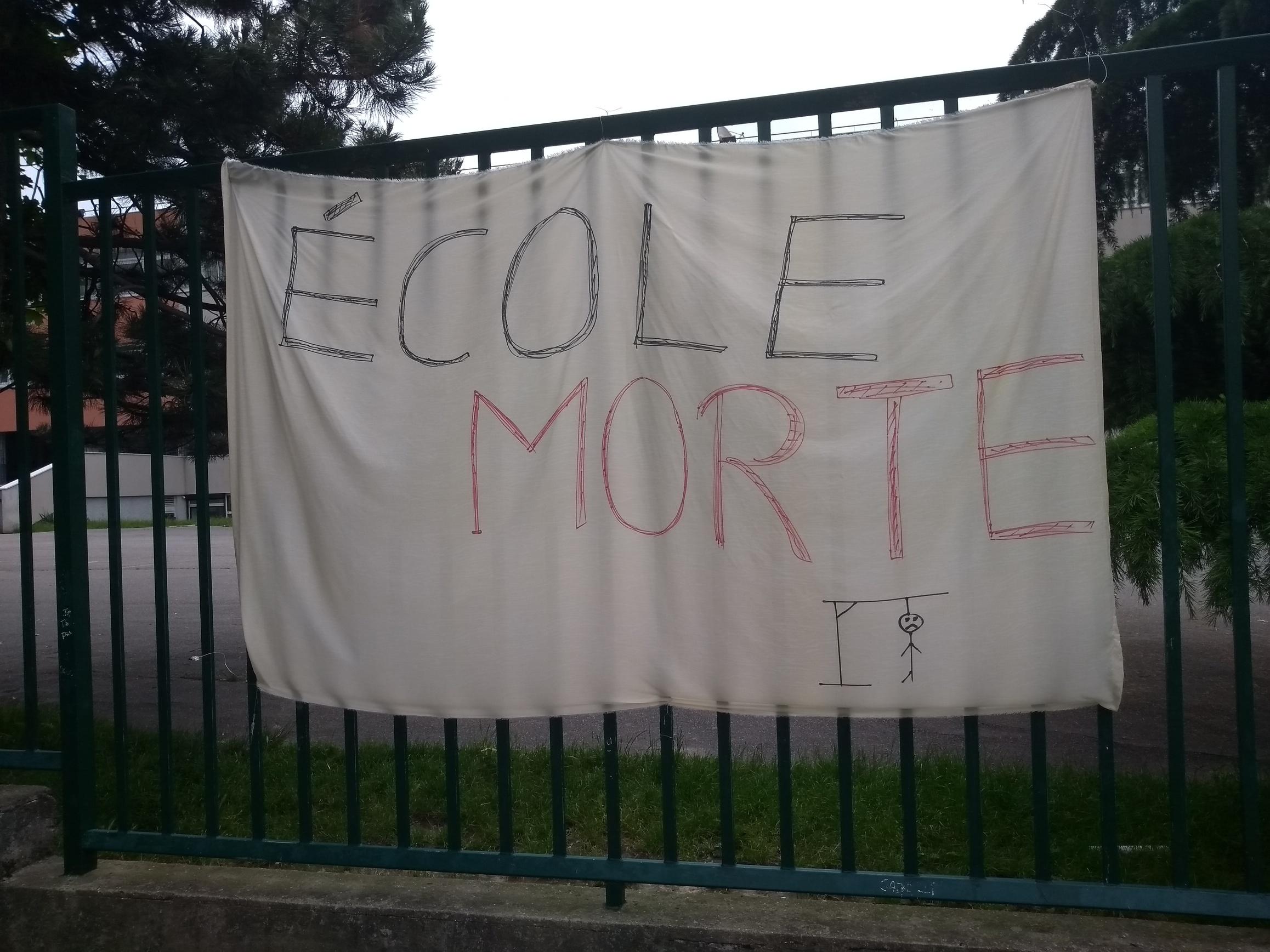 Le 15 avril: Écoles mortes à Garges et à Sarcelles