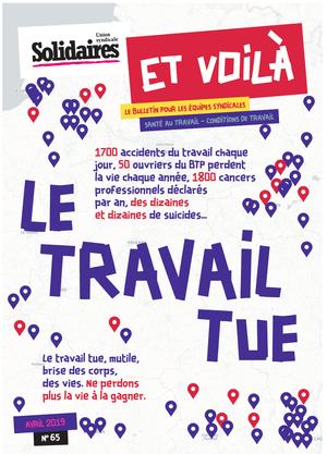 """""""Et voilà"""" n° 65 – avril 2019 : Le travail tue"""