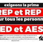 Exigeons la prime REP et REP + pour les AED et les AESH
