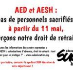 AED et AESH Autorisations d'absence, droit de retrait : tout savoir pour se protéger ! 30 avril 2020