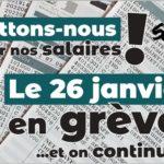 Battons-nous pour nos salaires! En grève le 26 janvier – dossier complet (fédé)