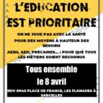 Mobilisation à Sarcelles pour les AESH et des moyens dans le secteur