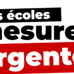 Pour les écoles : 5 mesures urgentes!